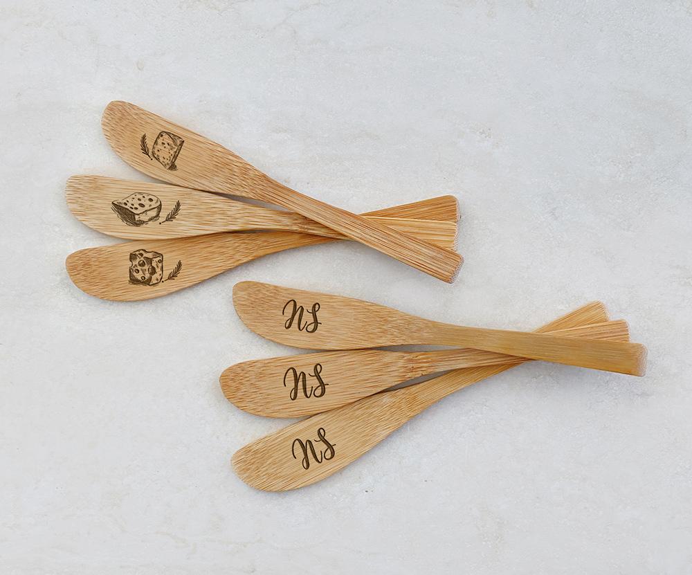 Espátulas de Bambu Personalizadas 01