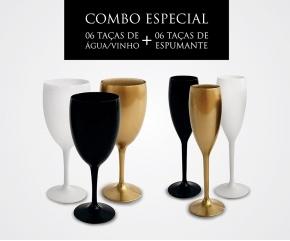 Combo - 06 Taças de Espumante + 06 Taças de água/vinho