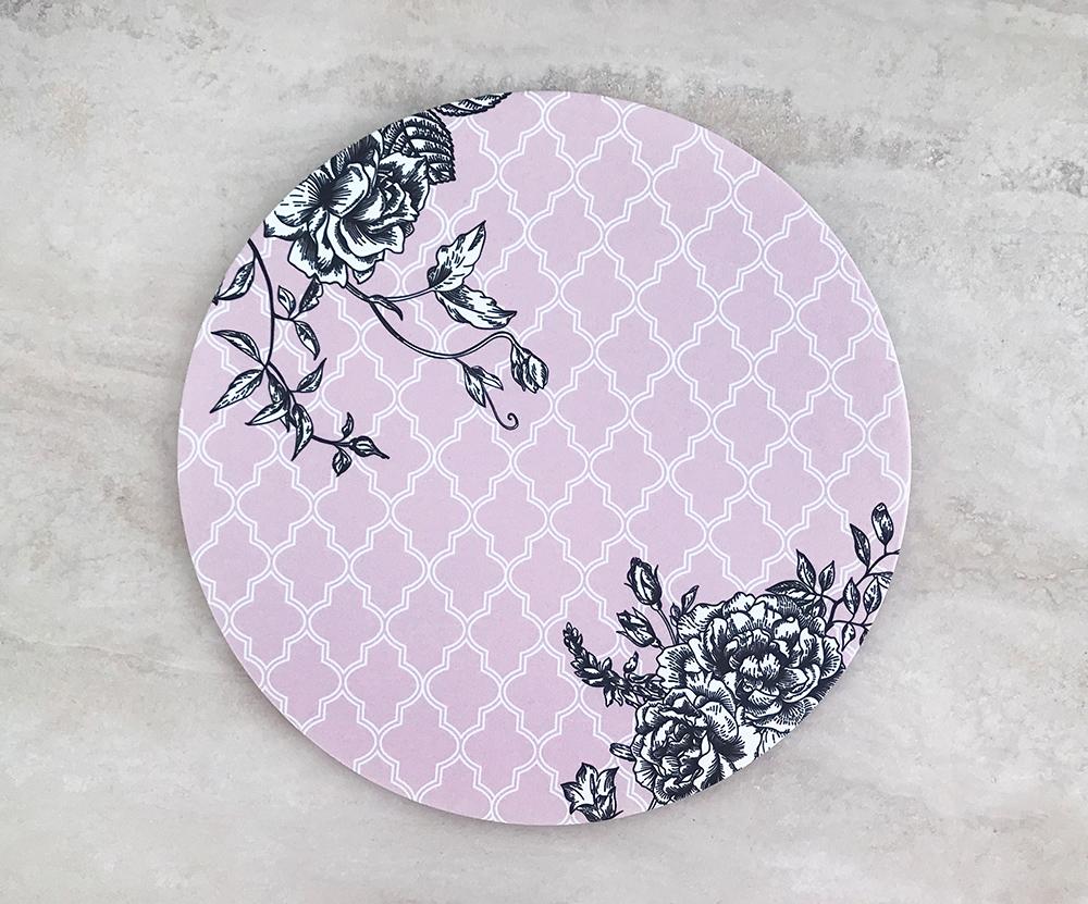 Sousplat Vintage Rosa (capa + Base)