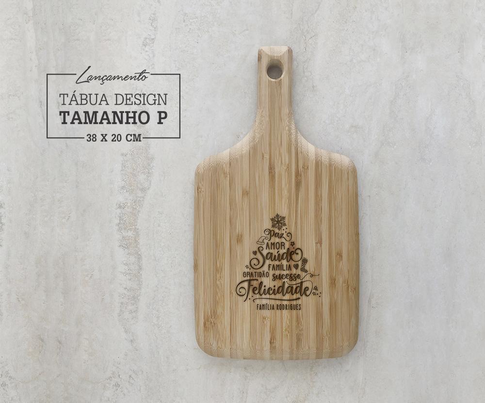 Tábua de Bambu Design Personalizada 04