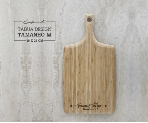 Tábua de Bambu Design M - 46x24,5 cm Personalizada 05