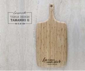Tábua de Bambu Design G - 58x28 cm Personalizada 01