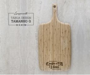 Tábua de Bambu Design G - 58x28 cm Personalizada 03