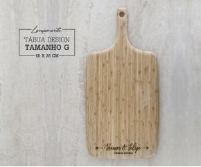 Tábua de Bambu Design G - 58x28 cm Personalizada 05