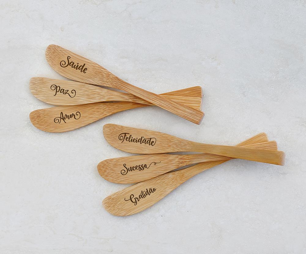 Espátulas de Bambu 10