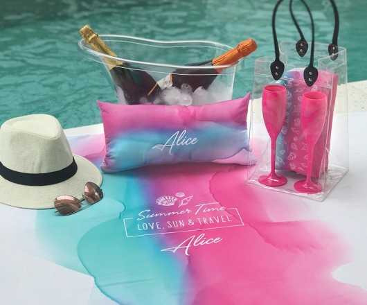 Kit Summer Personalizado Aquarela com Ice Bag
