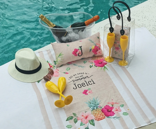 Kit Summer Personalizado Tropical com Ice Bag