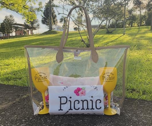 Kit Picnic Personalizado com Bolsa Cristal