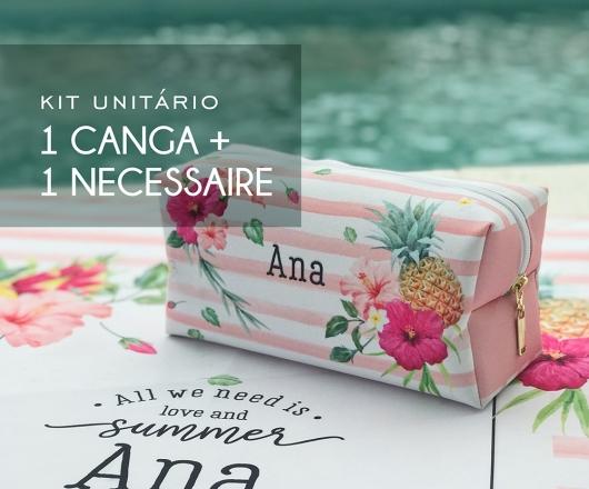 6be1812ec Kit 01 Canga + 01 Necessaire Tropical Chic Pink | Mundo Wine Acessórios