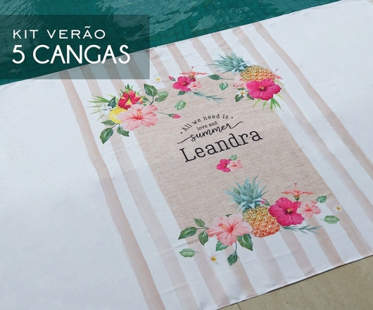 Kit 05 Cangas Personalizadas Tropical Nature