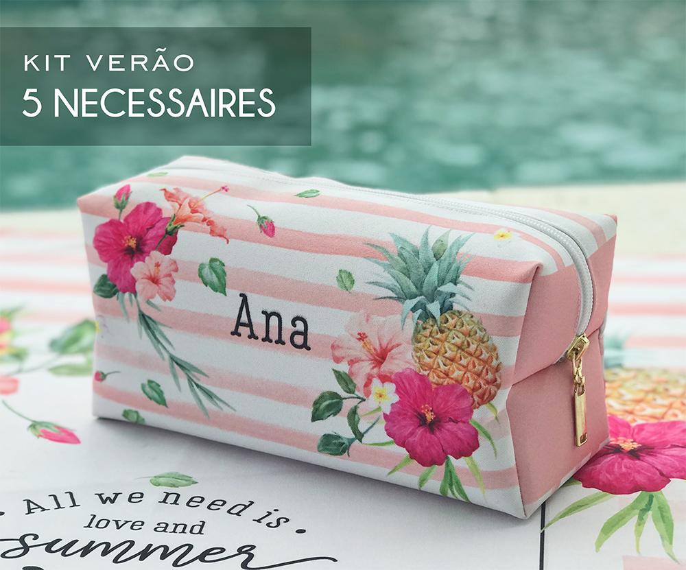 Kit 05 Necessaires Tropical Pink
