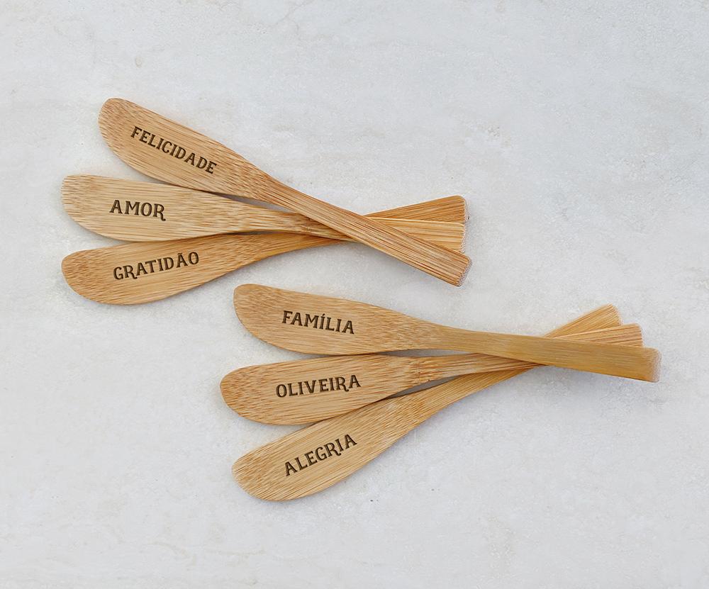 Espátulas de Bambu Personalizadas 12