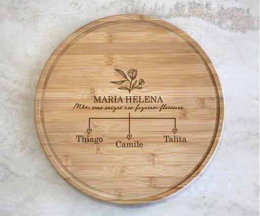 Tábua para Queijos 35 cm Personalizada Dia das Mães 02