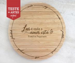 Tábua de Bambu Giratória para Queijos 40 cm Personalizada 12