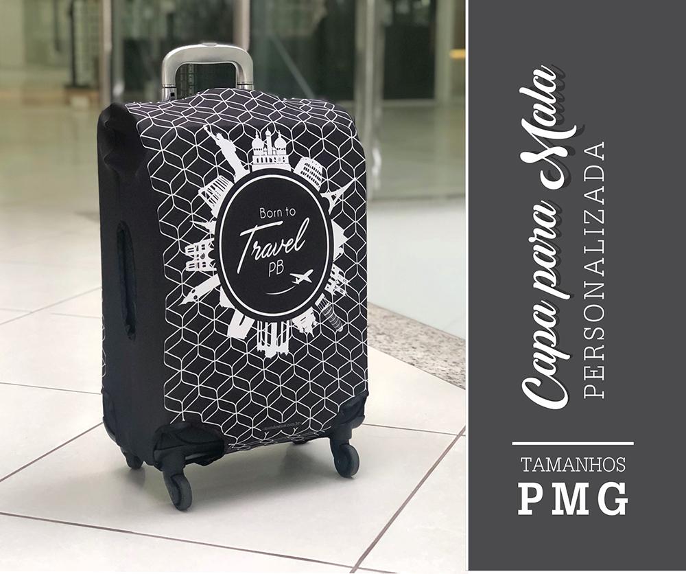 Capa para Mala Personalizada Black Travel