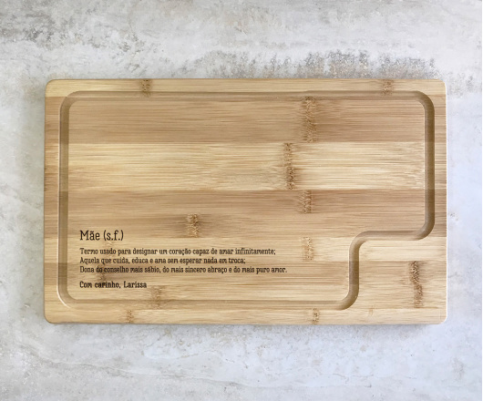 Tábua para Queijos 37 x 23 cm Personalizada Dia das Mães