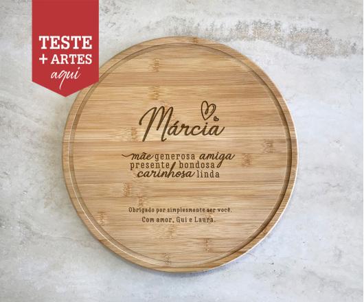 Tábua para Queijos 30 cm Personalizada Dia das Mães
