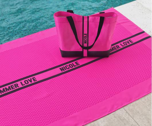 Kit Canga e Bolsa Neon Pink