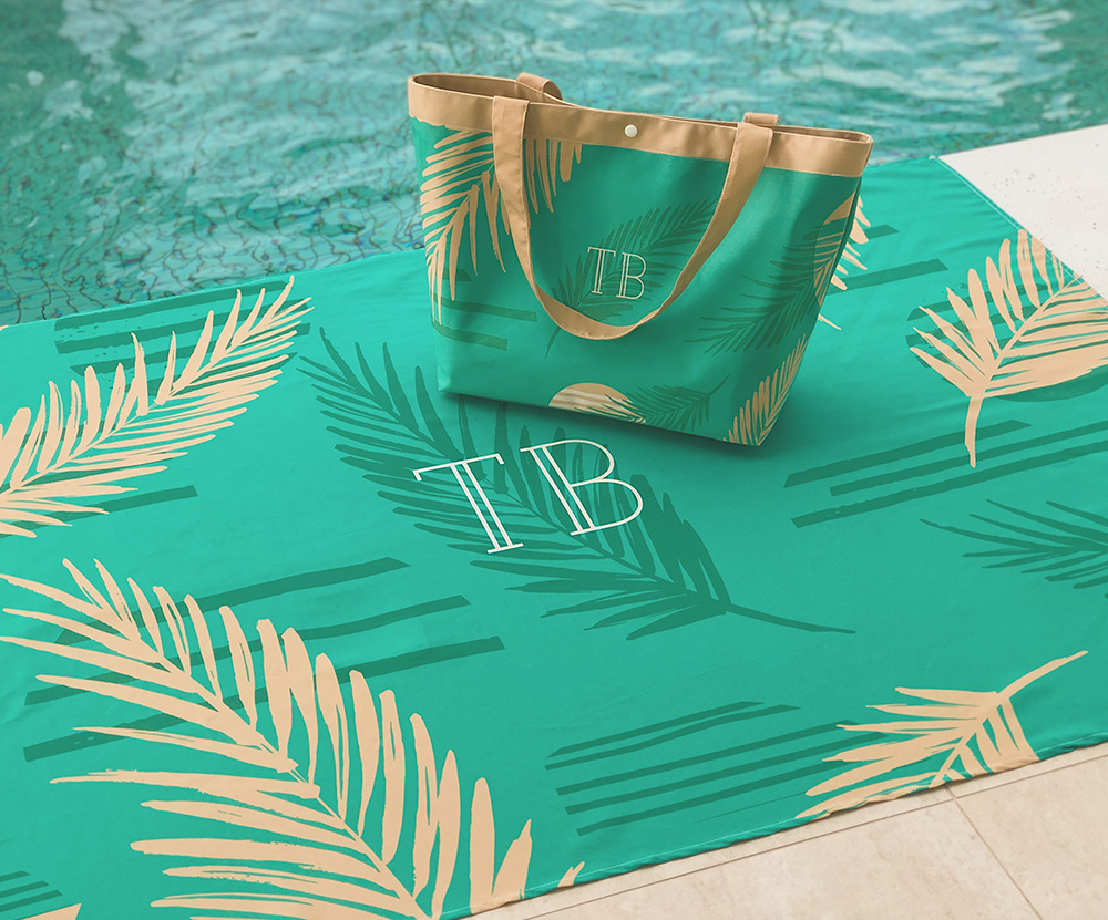 Kit Canga e Bolsa Palm Verde