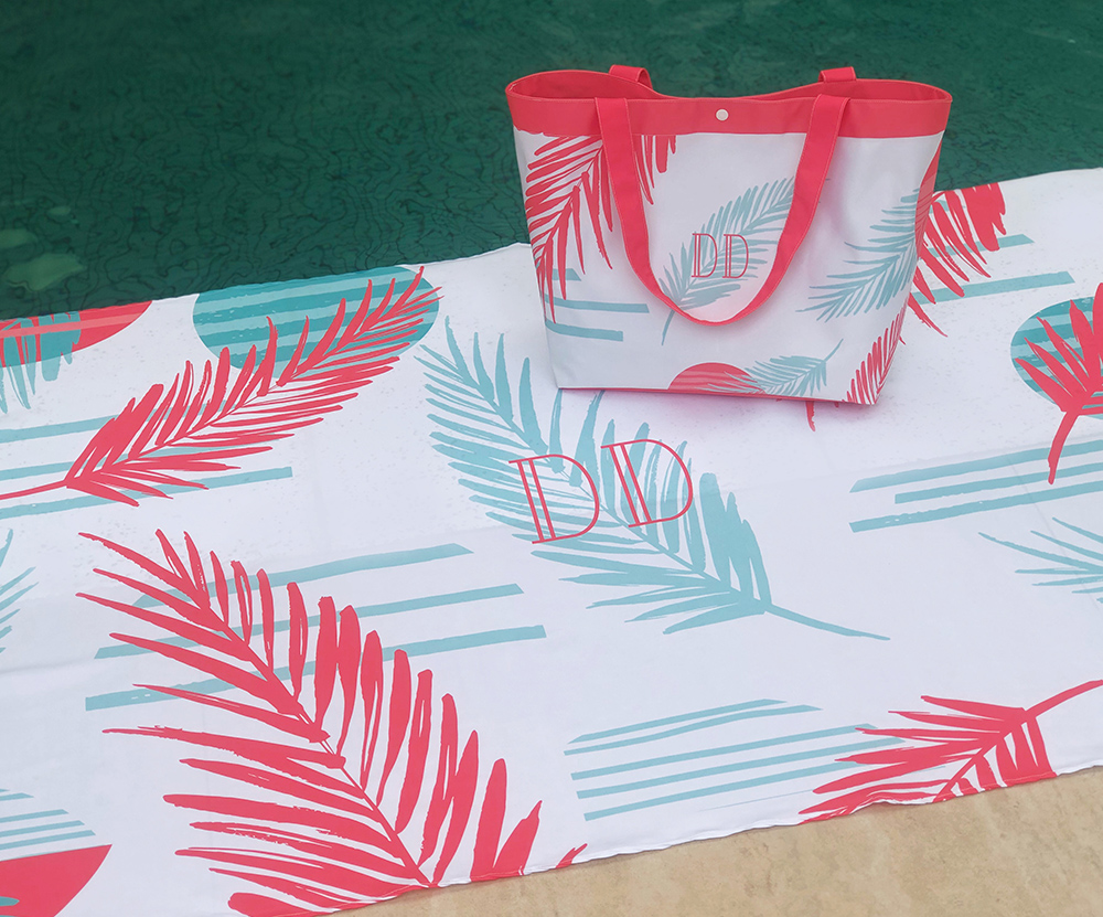 Kit Canga e Bolsa Palm Branco