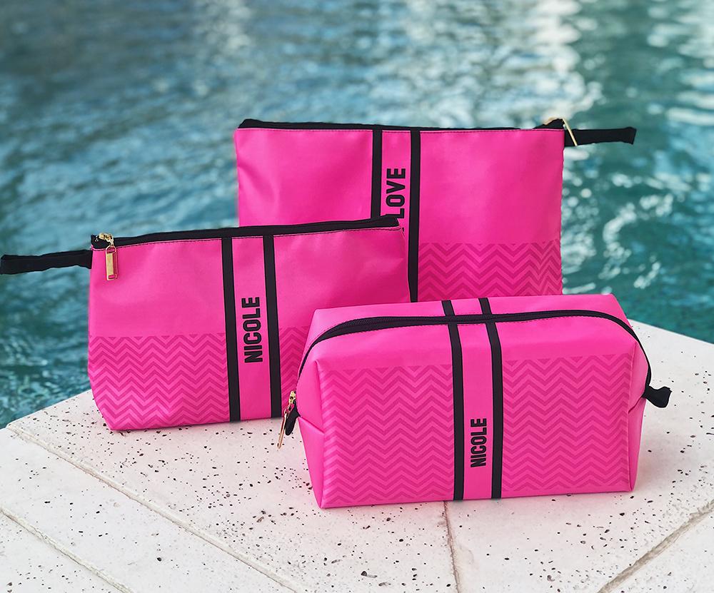 Kit 3 Necessaires Neon Pink