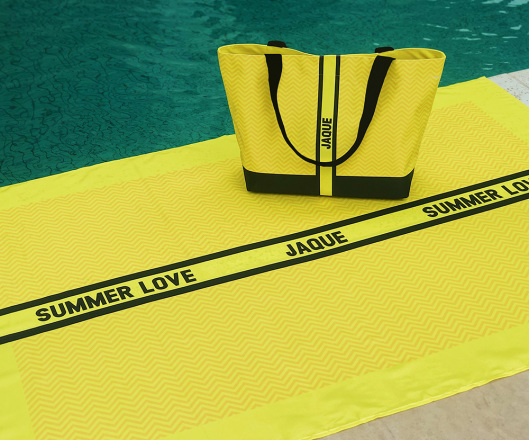 Kit Canga e Bolsa Neon Amarelo