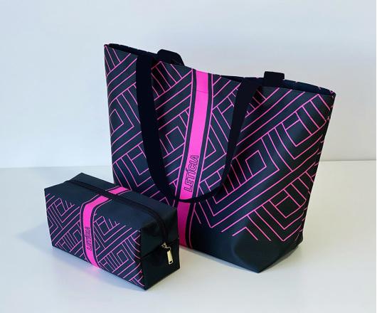 Kit Academia Personalizado Neon Pink