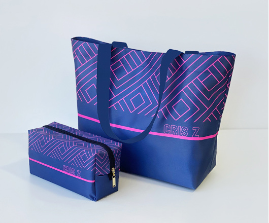 Kit Academia Personalizado Azul com Pink