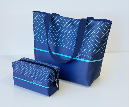 Kit Academia Personalizado Azul com Tiffany