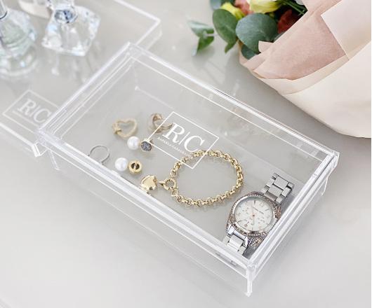 Caixa de Acrílico Cristal  22 x 12 cm