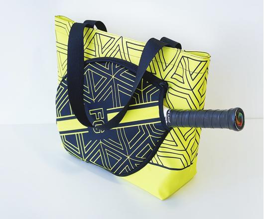 Bolsa Personalizada Beach Tennis, Padel e Tênis Amarela