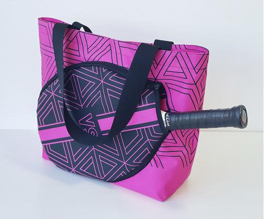 Bolsa Personalizada Beach Tennis, Padel e Tênis Pink