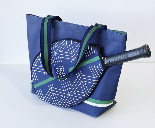 Bolsa Personalizada Beach Tennis, Padel e Tênis Marinho com Verde