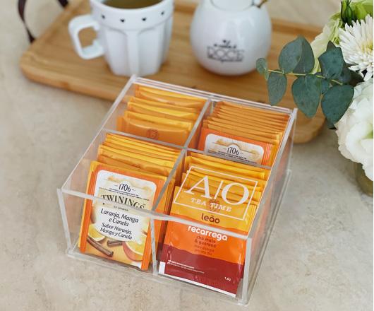 Caixa para Chá Acrílico Personalizada