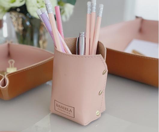 Porta Lápis Rosé Personalizado